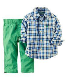 Carter's 2-Piece Shirt & Pant Set - Blue