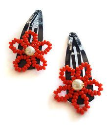 Soulfulsaai Bead Wire Flowers - Red
