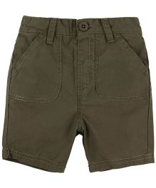 BabyPure Infant Solid Color Shorts - Khaki