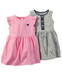 Carter's 2-Pack Dress Set - Grey Pink