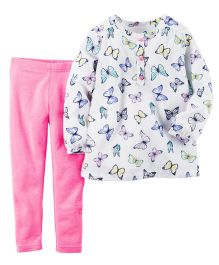 Carter's 2-Piece Top & Neon Leggings Set