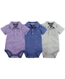 Carter's 3-Pack Short-Sleeve Polo Bodysuits