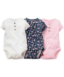 Carter's 3-Pack Short-Sleeve Henley Bodysuits