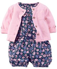 Carter's 2-Piece Jumpsuit & Cardigan Set