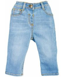 Fisher Price Apparel Slim Fit Jeans With Denim Wash - Light Blue