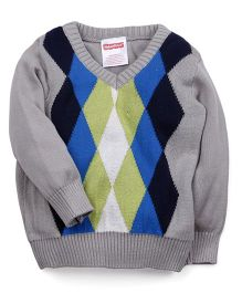 Fisher Price Apparel Full Sleeves V Neck Sweater - Multicolor