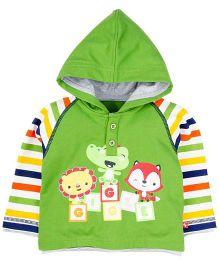 Fisher Price Apparel Hooded Sweatshirt With Cartoon Print - Green