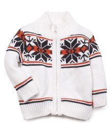 Fisher Price Apparel Front Open Sweater - White
