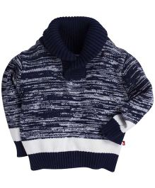 Fisher Price Apparel Shall Collar Full Sleeves Sweater - Navy