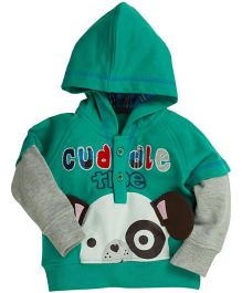 Fisher Price Apparel Hooded Sweatshirt With Cuddle Print - Dark Green