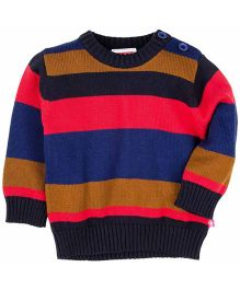M&M Full Sleeves Striped Sweater - Multi Color