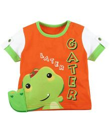 Fisher Price Apparel Printed Half Sleeve Tee - Green Orange
