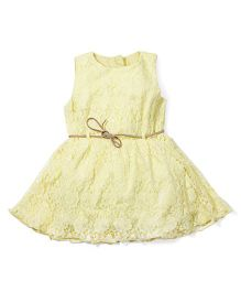 Fisher Price Apparel Party Wear Dress - Light Yellow