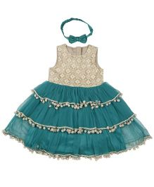 Fisher Price Apparel Party Wear Dress Embellishments - Green