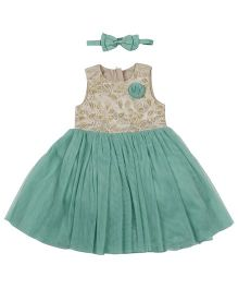 Fisher Price Apparel Party Dress With Headband - Green