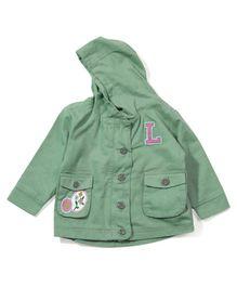 Ladybird Full Sleeves Hooded Jacket - Grey