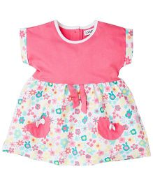 Ladybird Dress With All Over Print - Pink