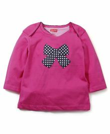 Fisher Price Apparel Full Sleeves Top Bow Print - Pink