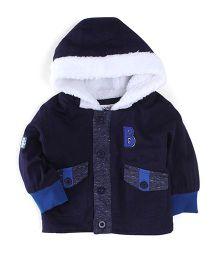 Ladybird Full Sleeves Hooded Jacket - Navy Blue