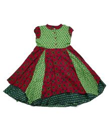 Lil'l Posh Short Sleeves Dress - Multicolor
