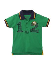 FS Mini Klub Half Sleeves Polo T-Shirt - Green & Navy