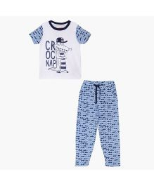 FS Mini Klub Pyjama Set - White And Blue