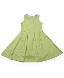 Babyoye Sleeveless Frock - Green