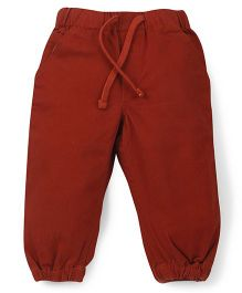 Babyoye Full Length Solid Colour Pants - Rust Brown