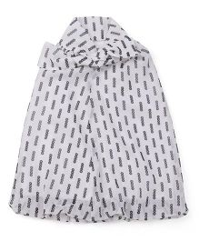 Babyoye Sleeveless Printed Dress - White