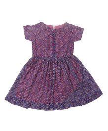 Babyoye Half Sleeves Dress - Purple