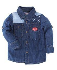 Oye Full Sleeves Shirt - Blue