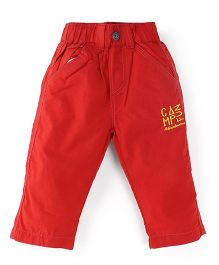 Oye Pull On Pants - Red