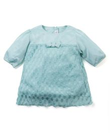 Babyoye Long Sleeves Netted Top - Sea Green