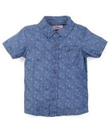 Oye Half Sleeves Printed Shirt - Blue