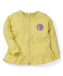 Oye Full Sleeves Sweat Jacket - Light Green
