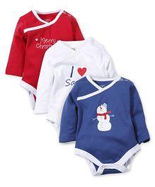 M&M Bodysuit Pack Of 3 - Red White Blue