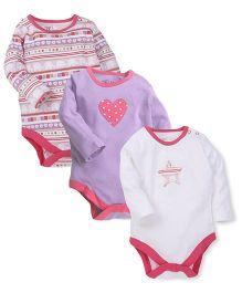 M&M Infant Onesies Multicolor - Pack Of 3