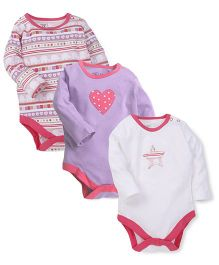 M&M Infant Onesies Multi Color - Pack Of 3