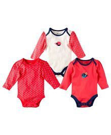 M&M Infant Onesies Red - Pack Of 3