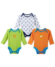 M&M  Infant Onesies Multi Colour - Pack Of 3