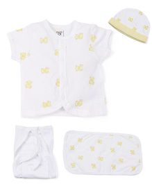 M&M Half Sleeves Baby Basic Multi Pieces Set Pack Of 9 - Yellow