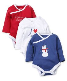 M&M Bodysuit Pack Of 3 - Red White Blue