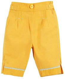 M&M Solid Color Trouser With Pleats - Yellow