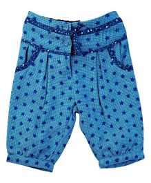 M&M Infant Trouser With Star Print - Blue