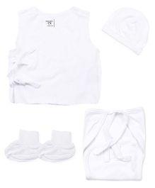 M&M Sleeveless Baby Basic Multi Pieces Set Pack Of 7 - White