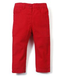 M&M Full Length Solid Color Trouser - Red