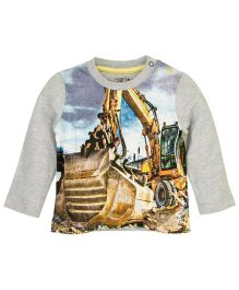 M&M Infant T-Shirt With Print - Grey Melange