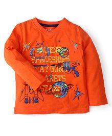 M&M T-Shirt With Print - Orange