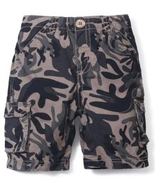 M&M Woven Shorts With Print Camouflage - Green