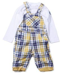 M&M Sleepsuit Pack Of 2 - Blue And White